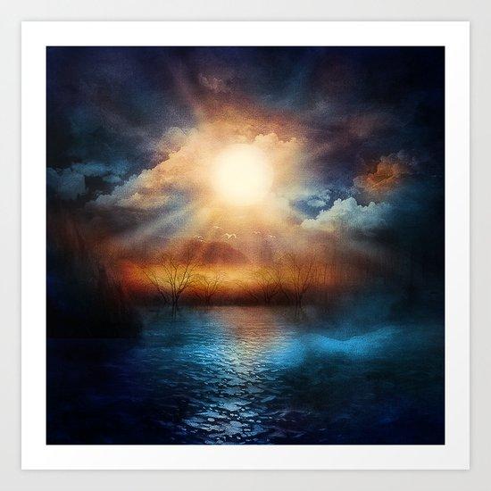 When the sun speaks Art Print