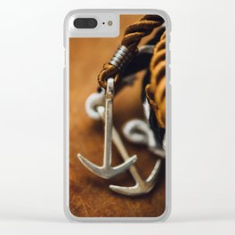 AGKYRA - ROPE - STEEL - WRIST - HAND Clear iPhone Case
