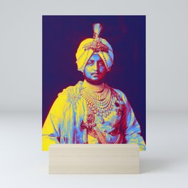 The Maharaja, Bhupinder Singh, of Patiala in the Punjab region of India, 1911 Neon art by Ahmet Asar Mini Art Print