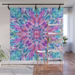 tropical bird feathers Wall Mural