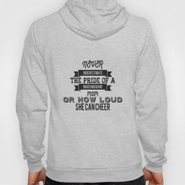 Never Underestimate A Cheer Mom - Pride Graphic Hoody