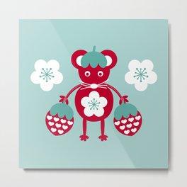 schraegerfuerst, strawberry mouse Metal Print