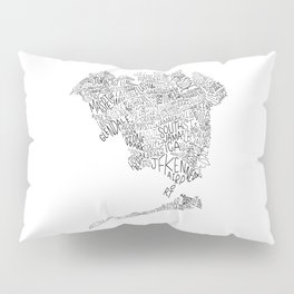 Queens - Hand Lettered Map Pillow Sham
