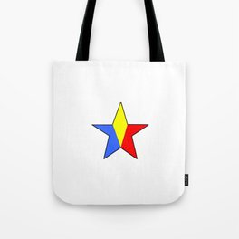 Flag of romania 6 -romania,romanian,balkan,bucharest,danube,romani,romana,bucuresti Tote Bag