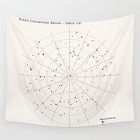 constellations Wall Tapestries featuring Constellations by Sarah Rodriguez