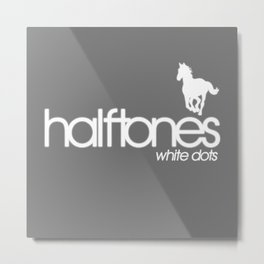 Halftones   White Dots Metal Print