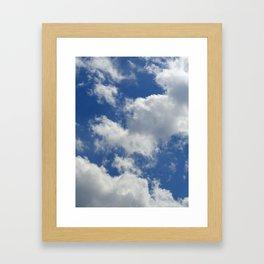 Sunny Cloudy Sky Framed Art Print