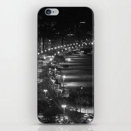 Copacabana beach at night iPhone Skin