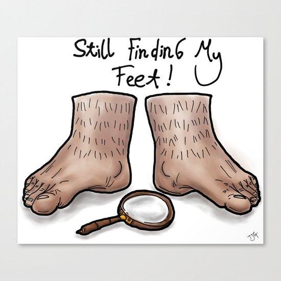 Still Finding My Feet Canvas Print