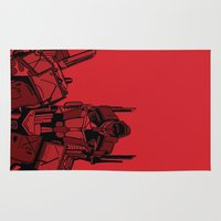 optimus prime Area & Throw Rugs featuring Transformers: Optimus Prime by Skullmuffins