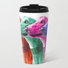 Greyhounds. Pop Art portrait. Travel Mug