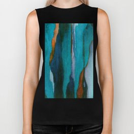 """""""a dark february redux1"""" abstract watercolor painting Biker Tank"""