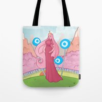 princess bubblegum Tote Bags featuring Princess Bubblegum by Antoine Jean