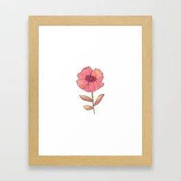 a flower is a flower is Framed Art Print
