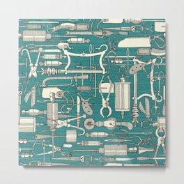 fiendish incisions blue Metal Print