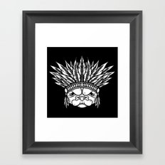 Tribal Pug Framed Art Print