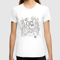 cape cod T-shirts featuring Cape Cod Map by Ryan O'Rourke