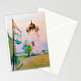 East Chop (Telegraph Hill) Lighthouse Martha's Vineyard Watercolor Stationery Cards