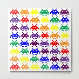 Rainbow Invasion Metal Print