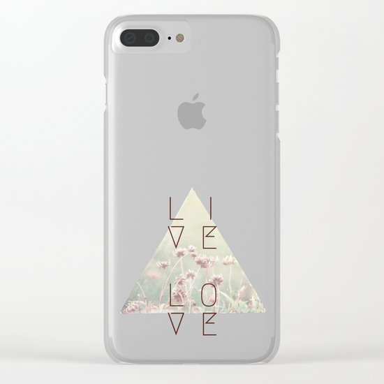 Live & Love Vintage Clear iPhone Case