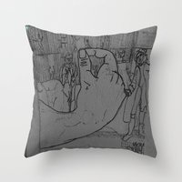 general Throw Pillows featuring General by john jewell