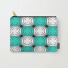 Abstract geometric pattern - blue and white. Carry-All Pouch