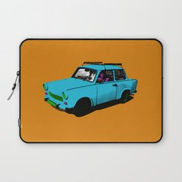 Trabant blue pop Laptop Sleeve