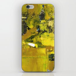 Waiter Yellow Abstract Modern Art Painting iPhone Skin