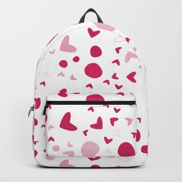 Seamless pattern with hearts on white Backpack