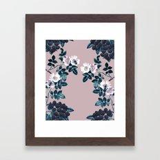 Wild Bee Blackberry Framed Art Print