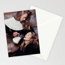 2 girls, 1 milk Stationery Cards