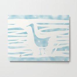 Blue Goose Metal Print