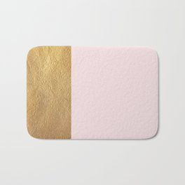 Color Blocked Gold & Rose Bath Mat