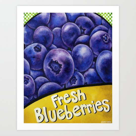 Fresh Blueberries Art Print