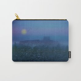 Castle ruin in a winter night Carry-All Pouch