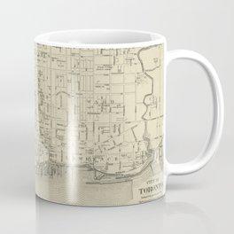 Vintage Map of Toronto Canada (1880) Coffee Mug