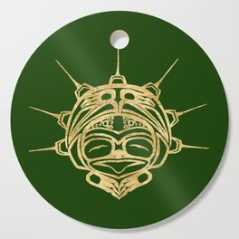 Gold Frog Grass Cutting Board