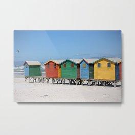 southafrica ... muizenberg beach huts IV Metal Print