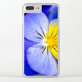 Pansy Close-up Square Clear iPhone Case