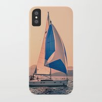racing iPhone & iPod Cases featuring  Yacht racing by Svetlana Korneliuk