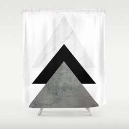 Arrows Monochrome Collage Shower Curtain