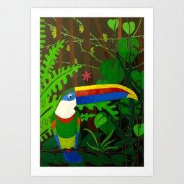 Il Tucano Pensieroso (The Thoughtful Toucan) Art Print