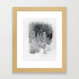 Les sœurs de la rivière Framed Art Print