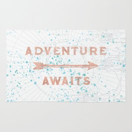 Adventure Awaits Rose Gold Rug