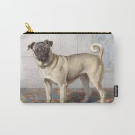 Vintage Pug Painting Carry-All Pouch