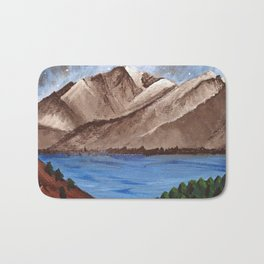 Serene Mountains Bath Mat