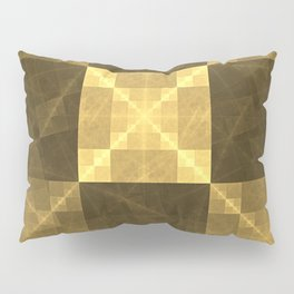 Gilded Electrical Squares Pillow Sham