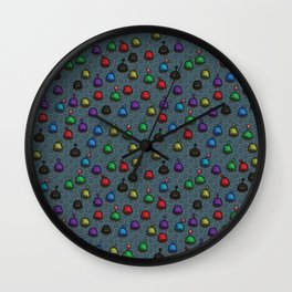 Stardew Valley Slime Hutch Pattern Wall Clock