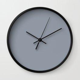 Vintage New England Shaker Village Dark Slate Grey Milk Paint Wall Clock