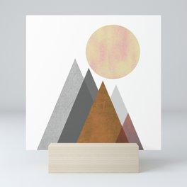 The Gathering, Geometric Landscape Art Mini Art Print